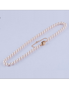 Collar de Perlas 7 mm Crema...